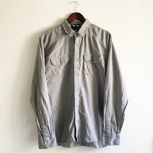 Vans Off The Wall Steel Gray Button Up